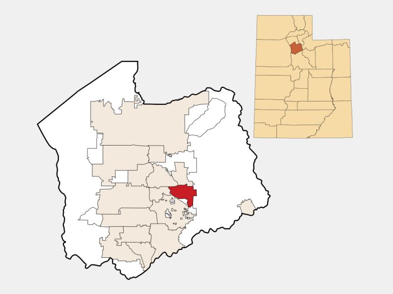 Cottonwood Heights locator map