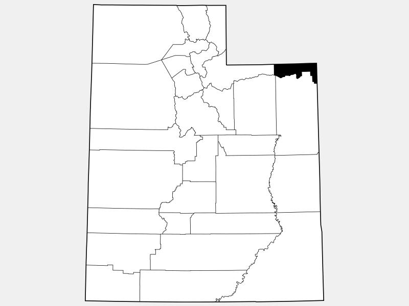 Daggett County locator map