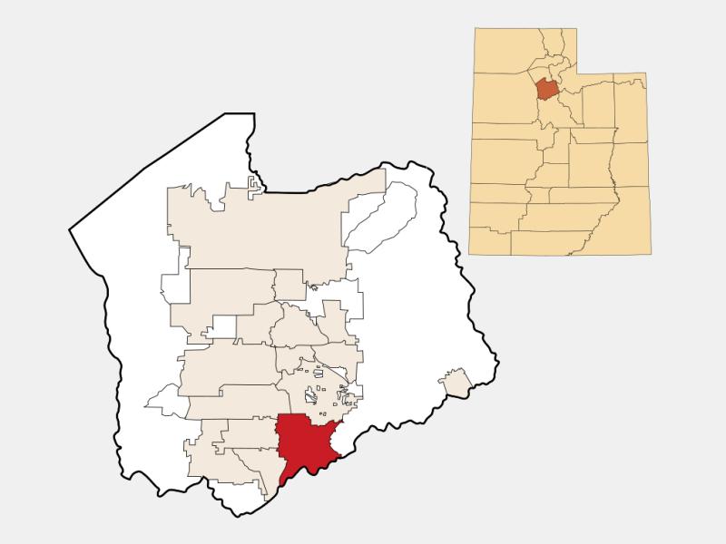 Draper locator map