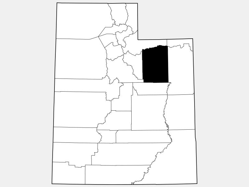 Duchesne County locator map