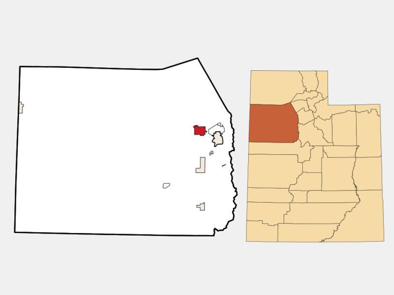 Grantsville locator map