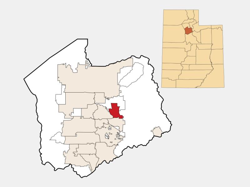 Holladay locator map
