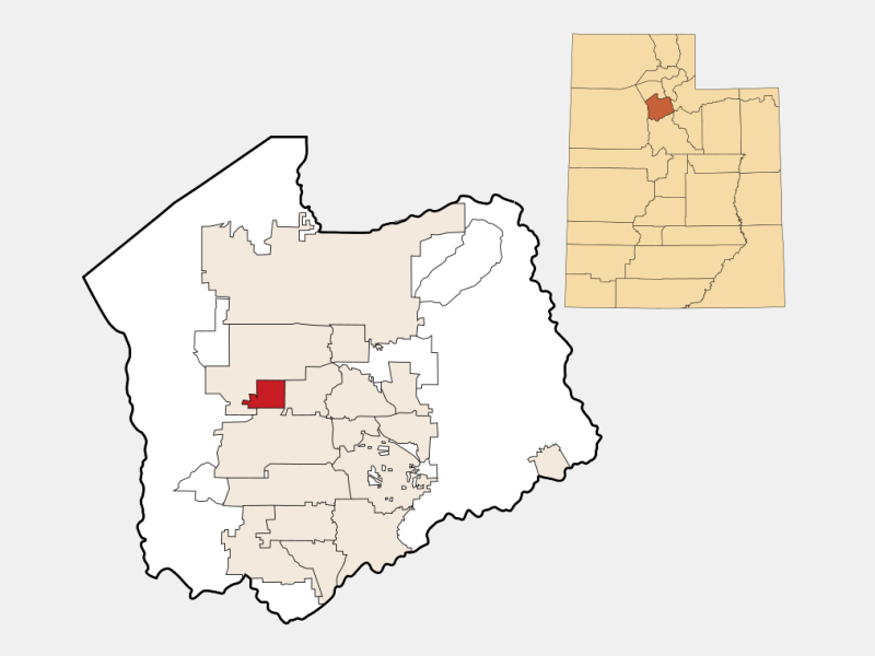Kearns location map