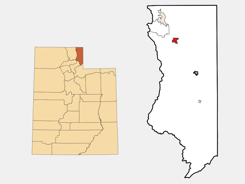 Laketown locator map