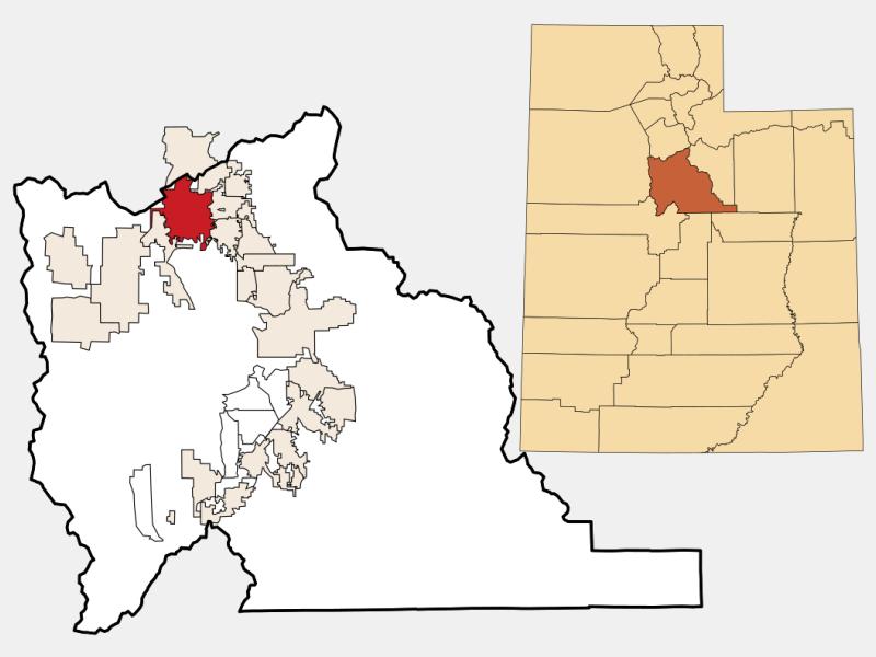 Lehi locator map