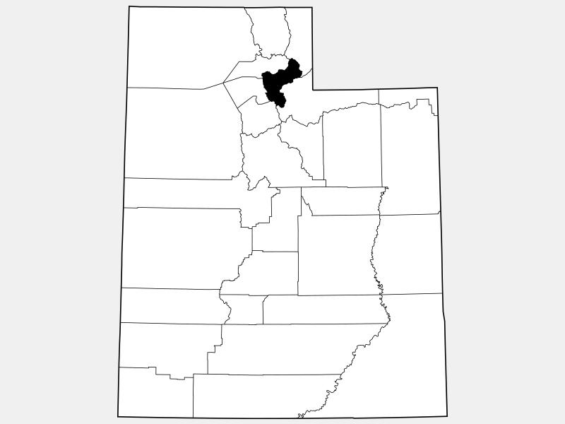 Morgan County locator map