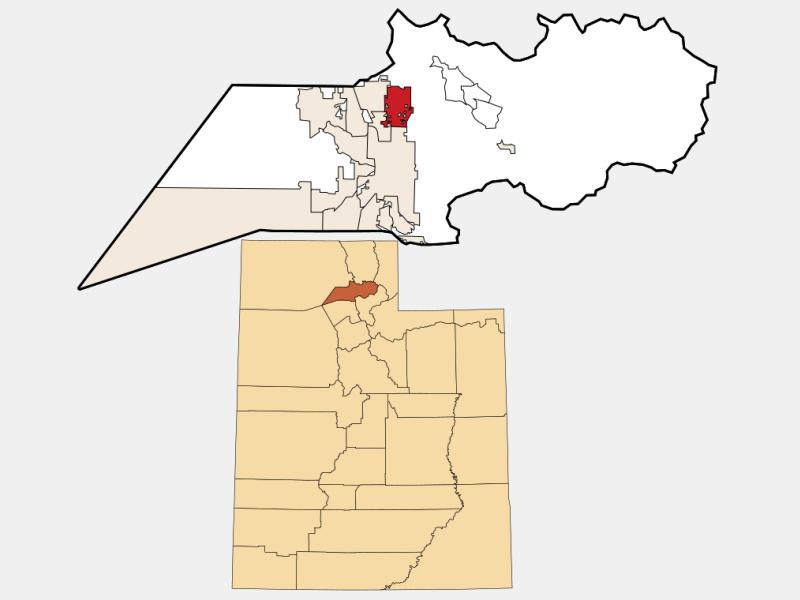 North Ogden locator map