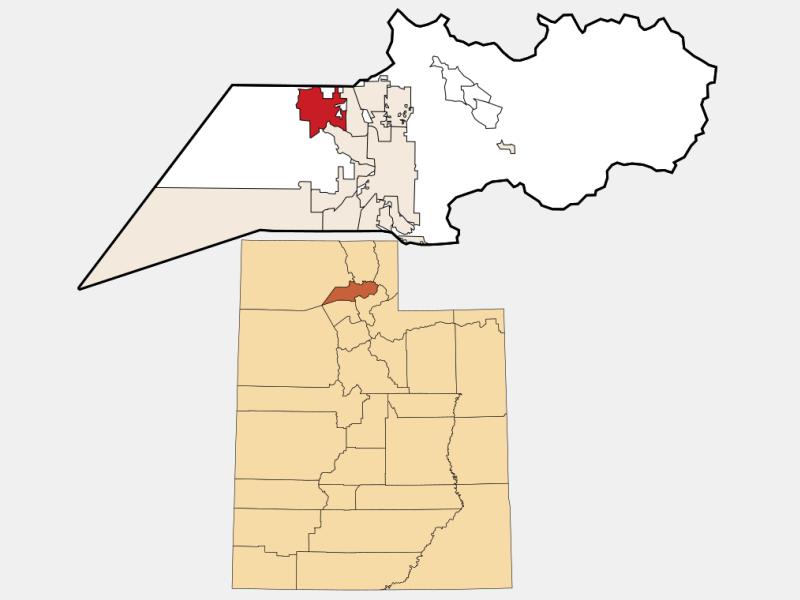 Plain City locator map