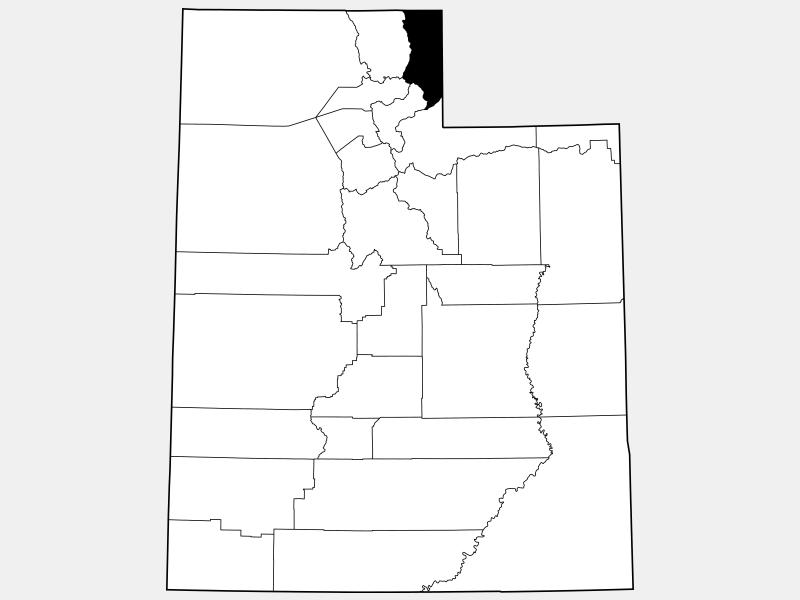 Rich County locator map