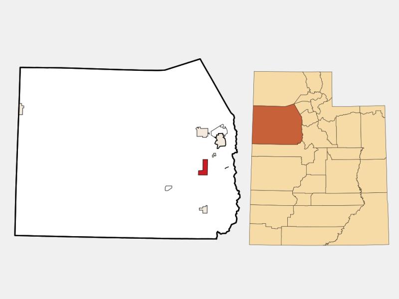 Rush Valley locator map