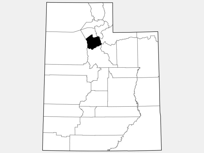 Salt Lake County locator map