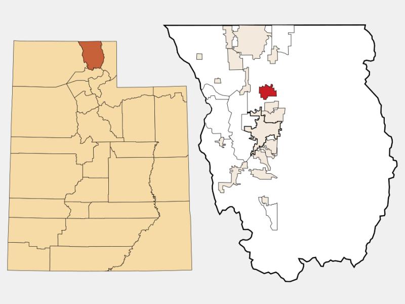 Smithfield locator map