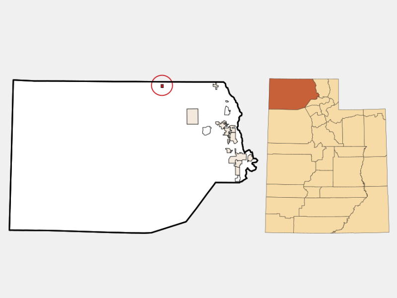 Snowville locator map