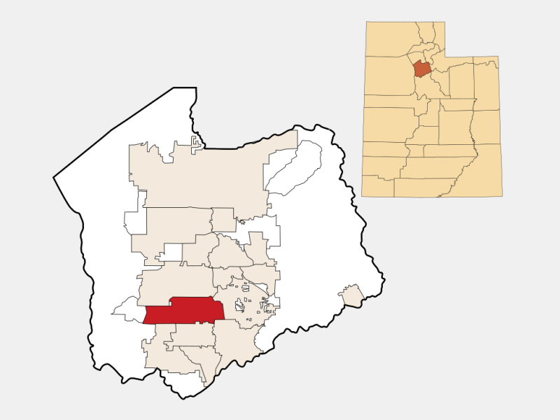 South Jordan locator map