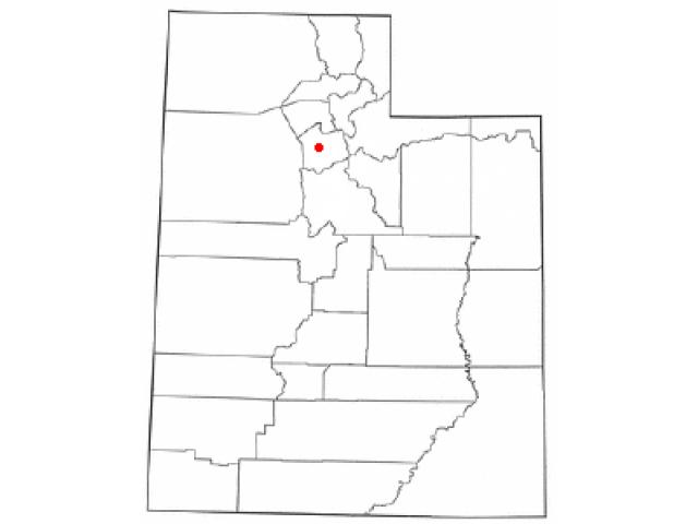 Taylorsville locator map