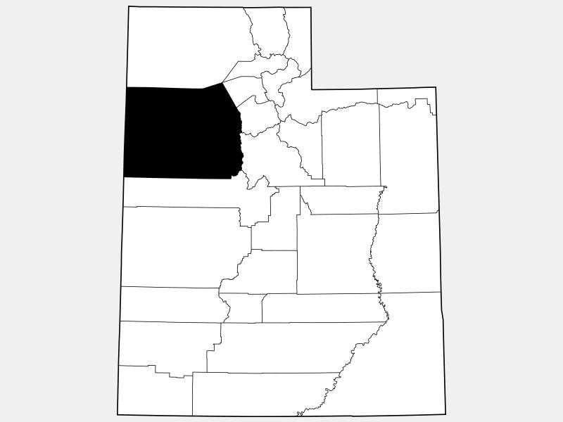 Tooele County locator map