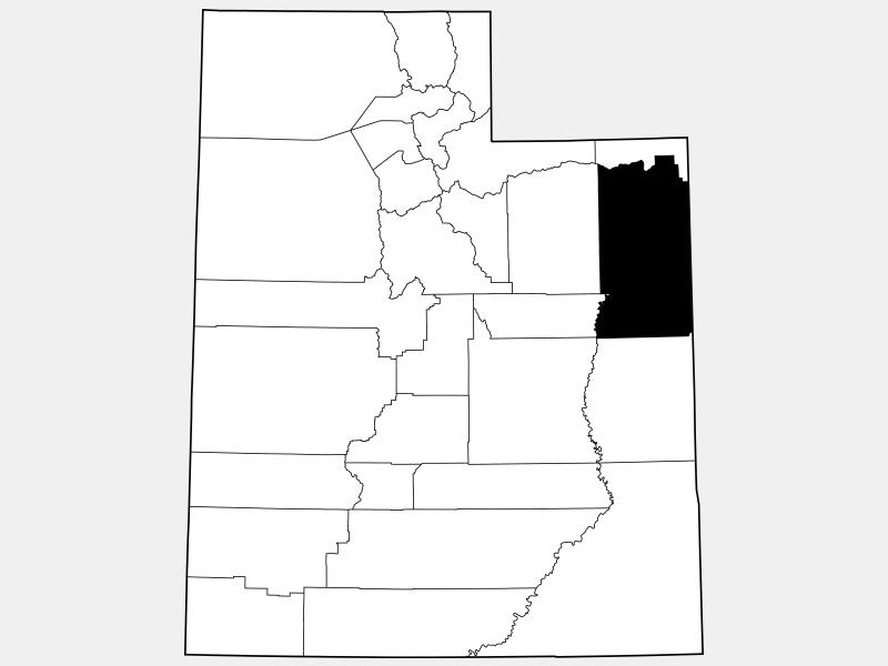 Uintah County locator map