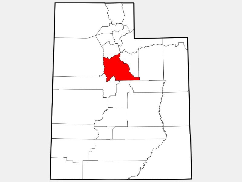 Utah County locator map