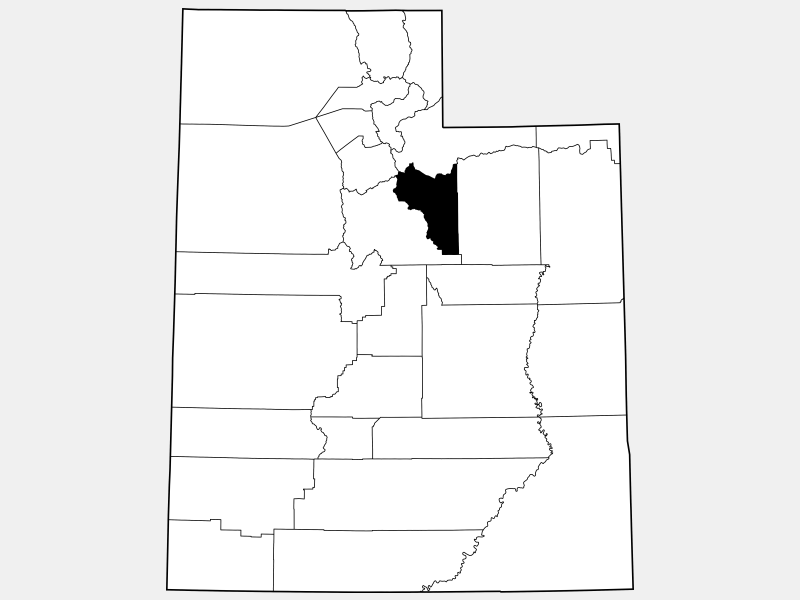 Wasatch County locator map