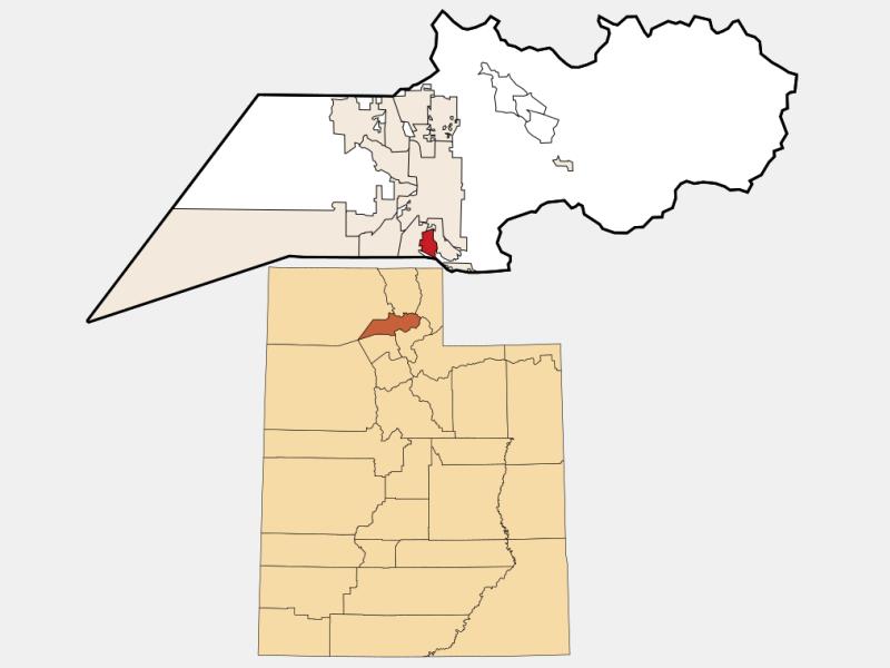 Washington Terrace locator map
