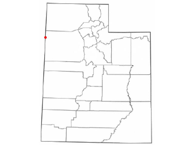 Wendover locator map