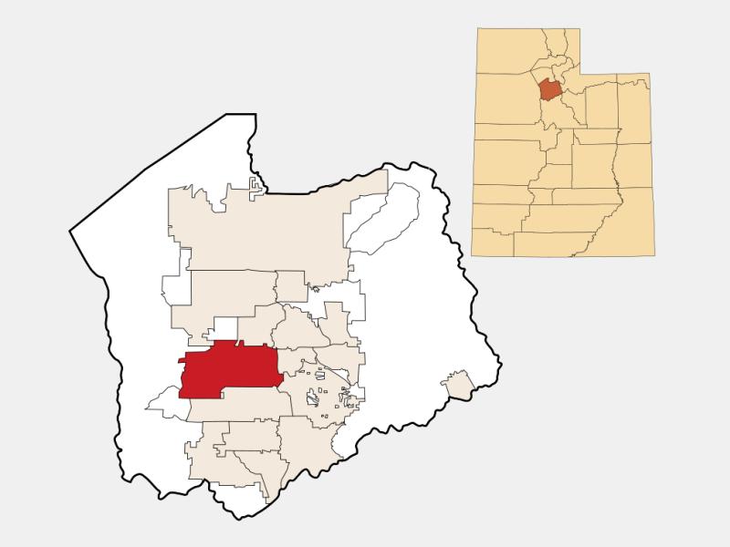 West Jordan locator map