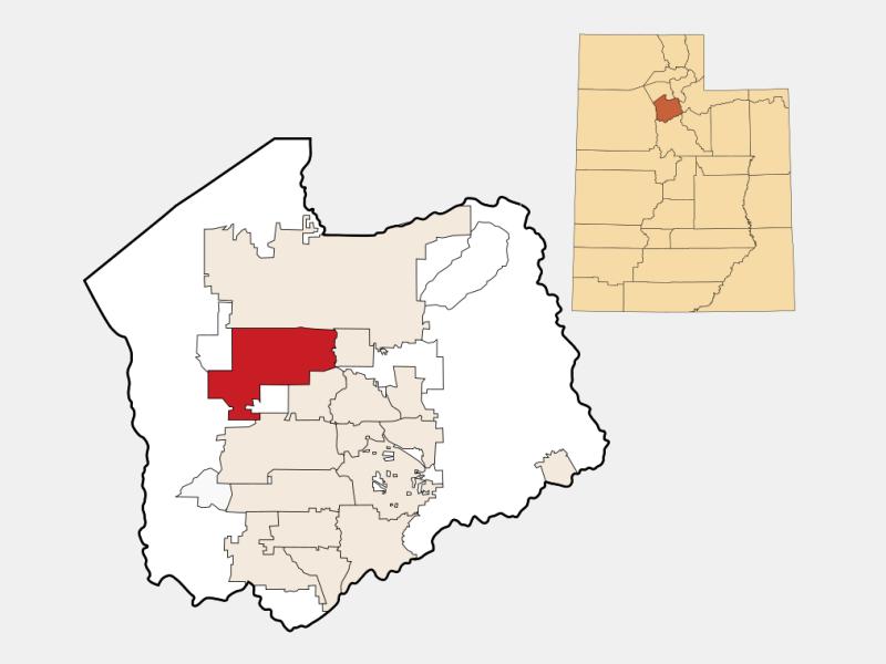 West Valley City locator map
