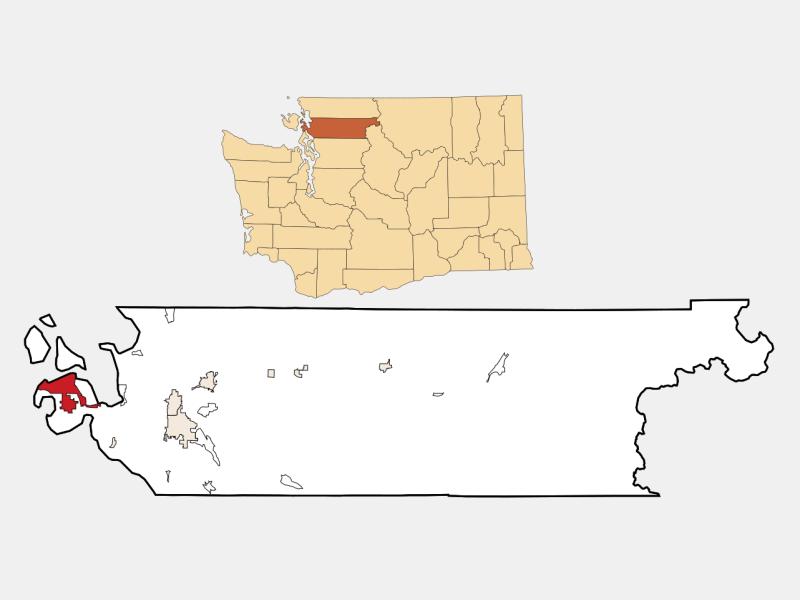 Anacortes locator map