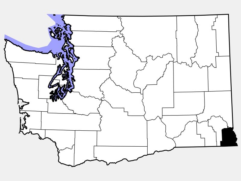 Asotin County locator map