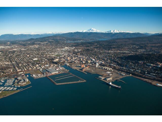 Aerial View of Bellingham  Washington image