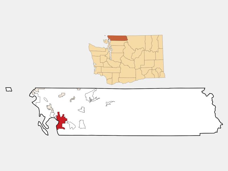 Bellingham locator map