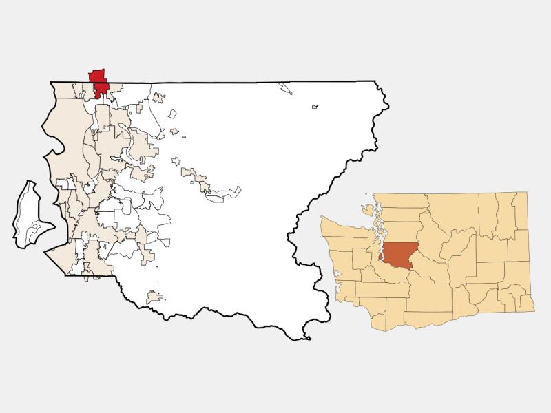 Bothell locator map