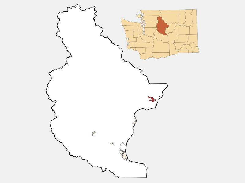 Chelan locator map