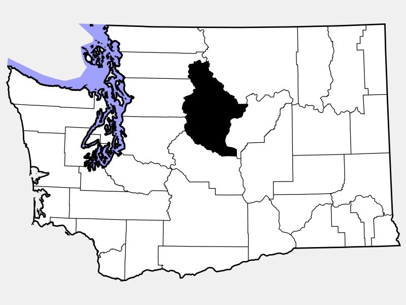 Chelan County locator map