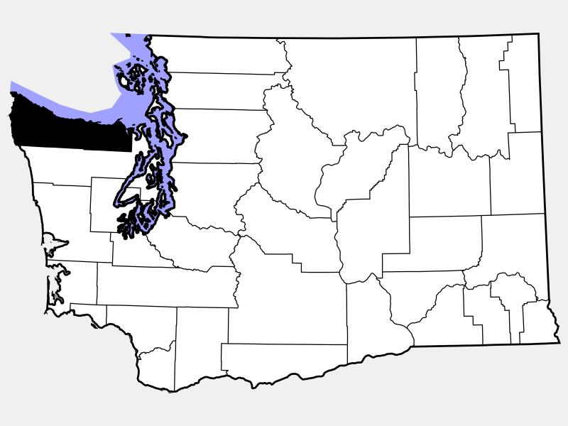 Clallam County location map