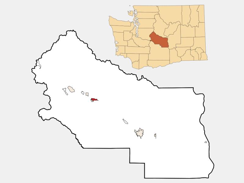 Cle Elum locator map