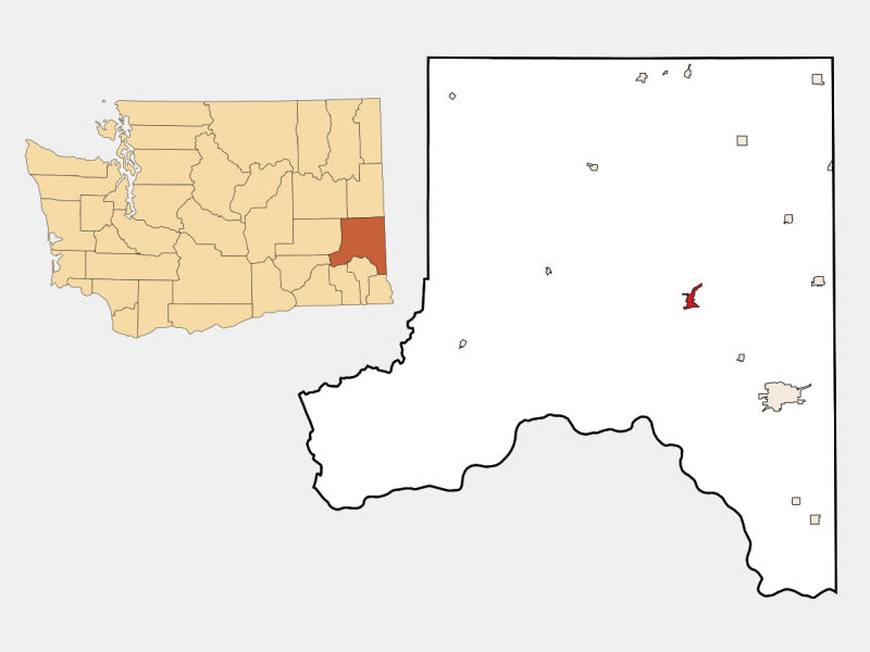 Colfax locator map