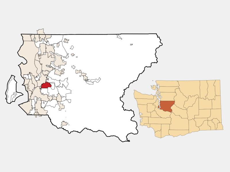 Fairwood locator map