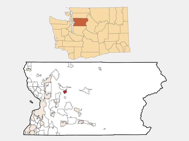 Granite Falls locator map