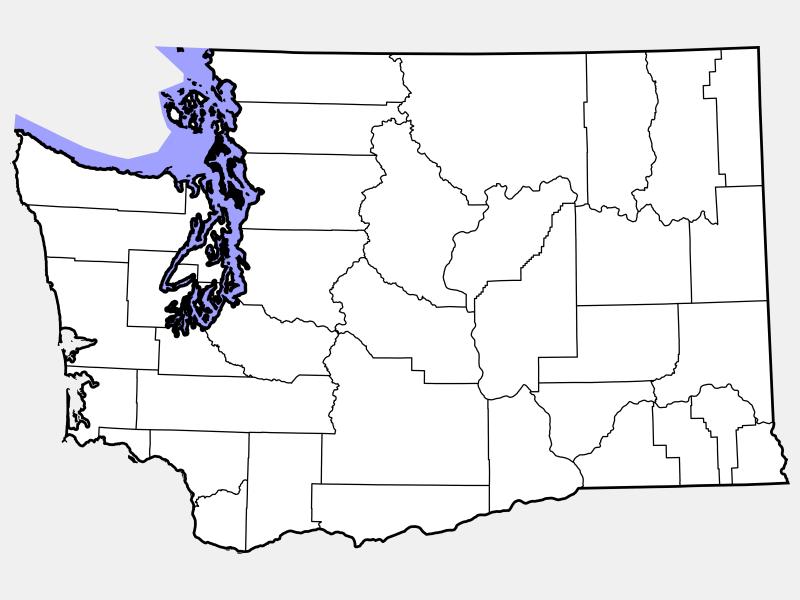 Island County locator map