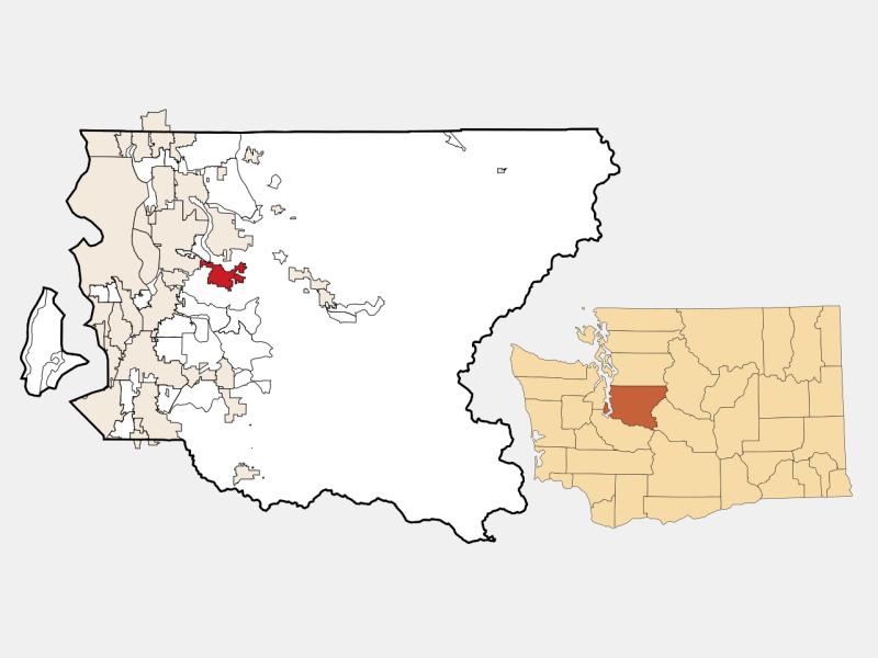 Issaquah locator map