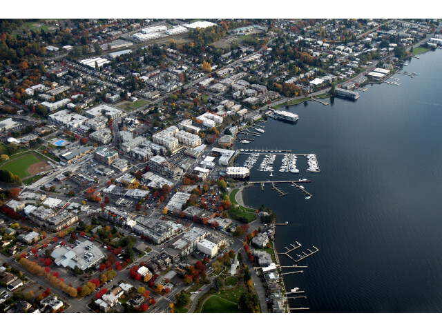 Aerial Kirkland Washington November 2011 image