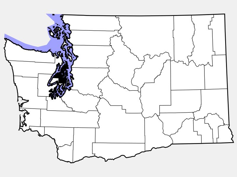 Kitsap County locator map