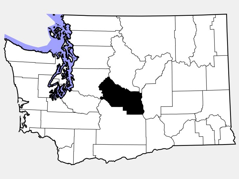 Kittitas County locator map