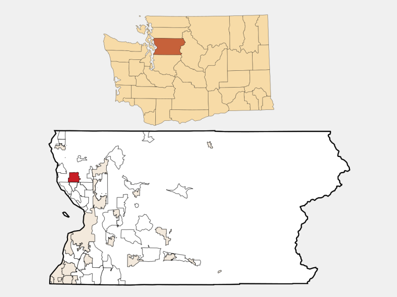 Lake Goodwin location map