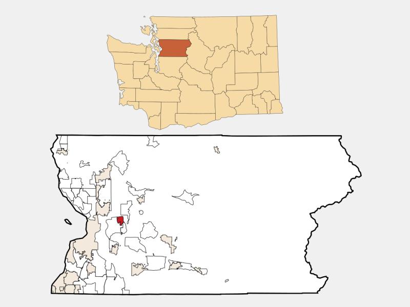 Lake Stevens locator map