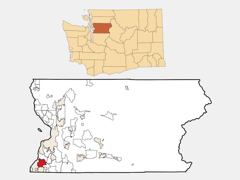 Lynnwood locator map