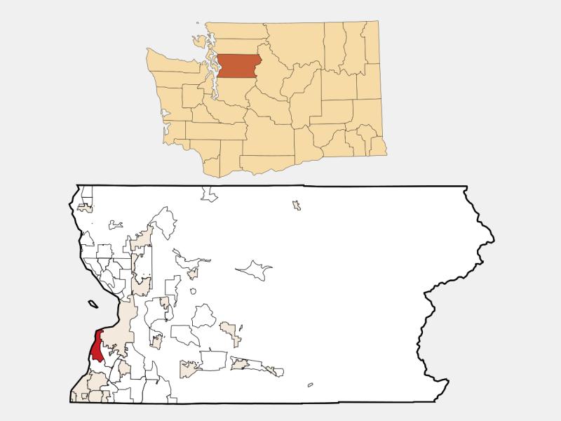 Mukilteo locator map