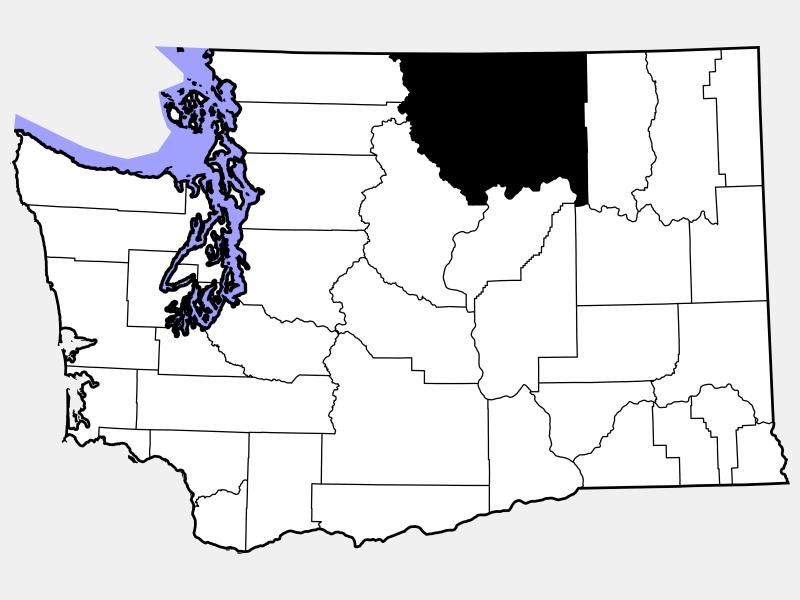 Okanogan County locator map