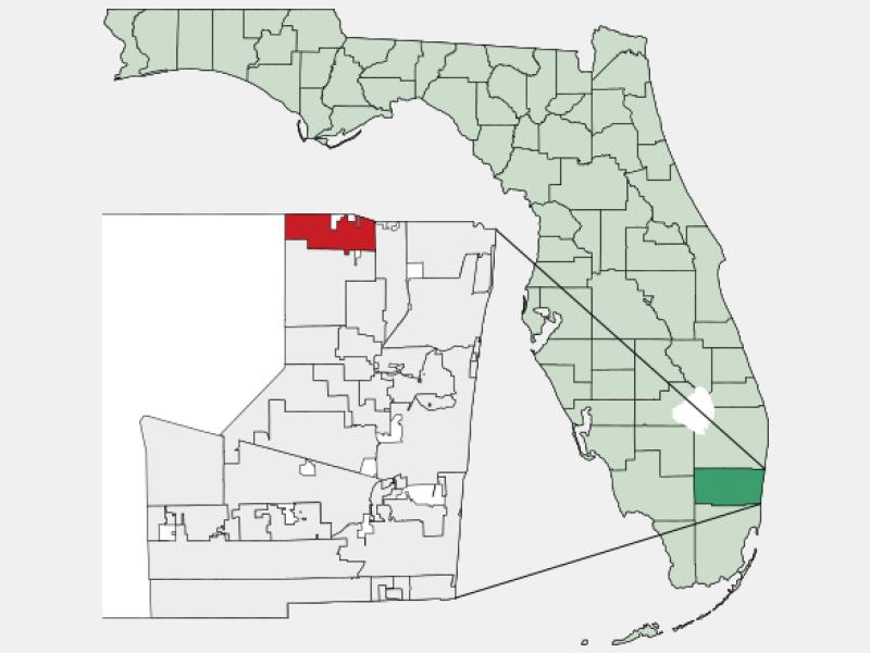 Parkland locator map